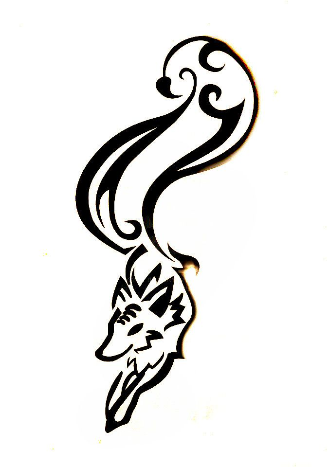 Fox Tribal Tattoo Without Background Tribal Tattoos Tattoos Illustrations And Posters