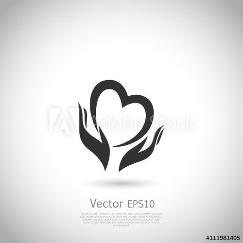 Hands Holding Heart Symbol Sign Icon Logo Template For Charity Health Voluntary Non Profit Organization Hands Holding Heart Heart Symbol Charity Logos