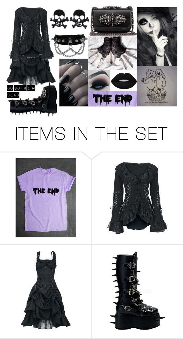 """""""Spiked Goth"""" by annabethpercy ❤ liked on Polyvore featuring картины"""