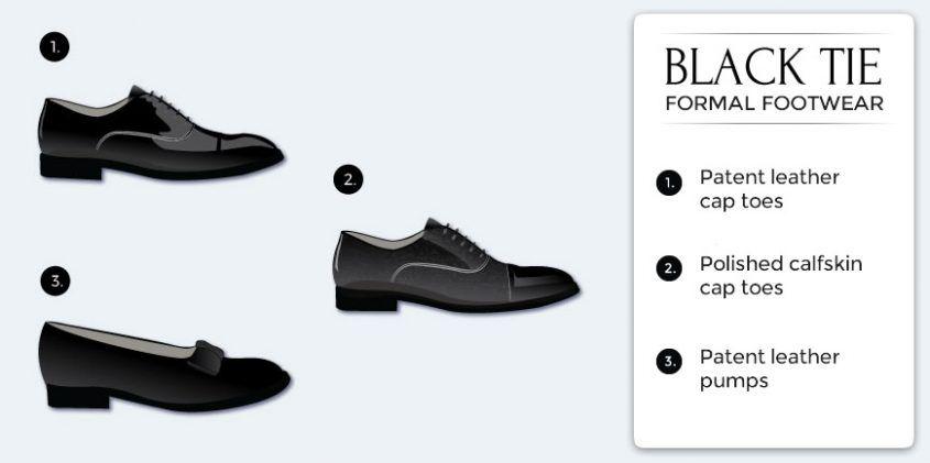 Black tie attire, Black tie dress code