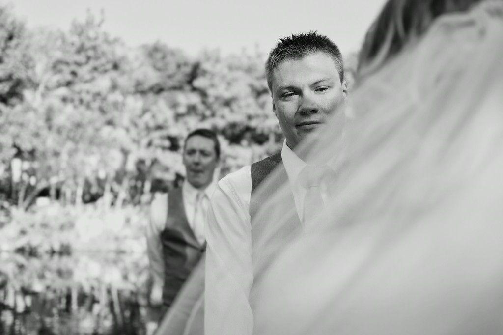 Touching wedding ceremony.