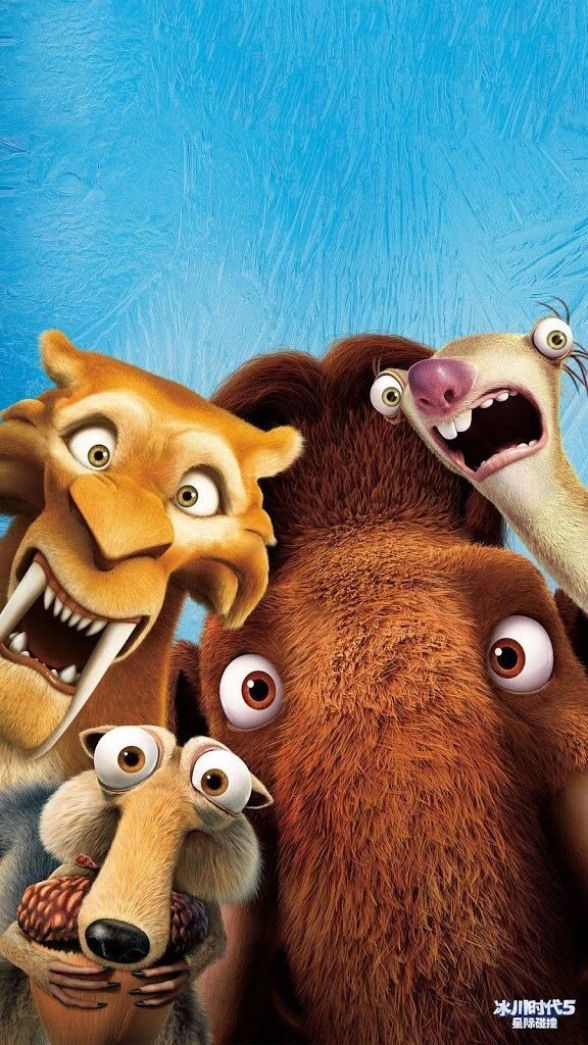 Funny ice age wallpaper for iPhone or android