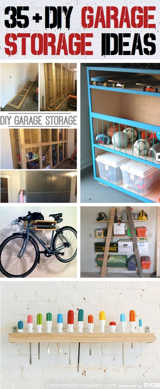 One of the best garage storage posts in a long time. Some really great ways to organize with simple to build designs. #DIYHOme #RE/MAXLubbock #ScottToman,REALTOR®