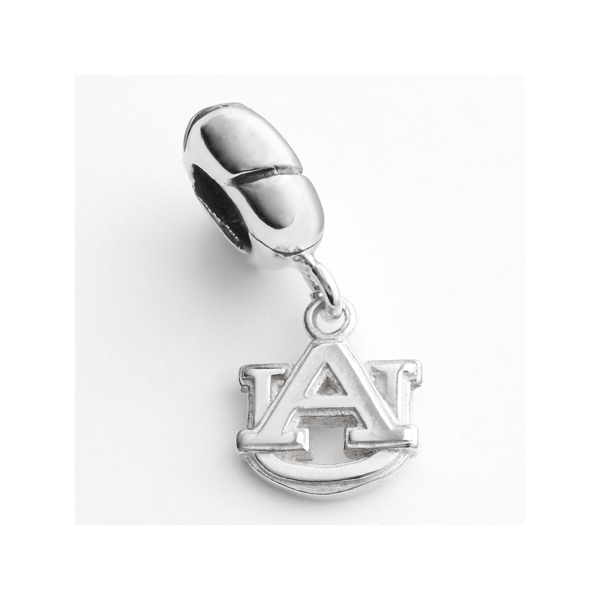 Dayna U Auburn Tigers Sterling Silver Logo Charm, Women's, Grey