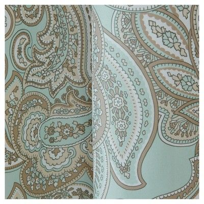 "Dierdre Cotton Printed Paisley Panel Blue (50""x84"")"