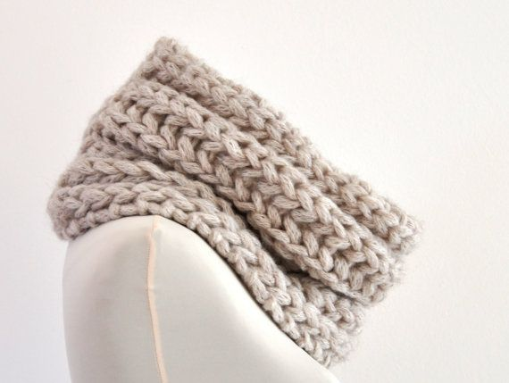 Chunky Circle Scarf Tube Knit Cowl Big Bulky By Reflectionsbyds