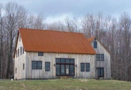 Grey Barn Copper Roof