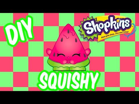 Diy Squishy Eraser : Shopkins DIY Sparkly Glitter SQUISHY How To Make Melonie Pips Inspired by Cookie Swirl C ...