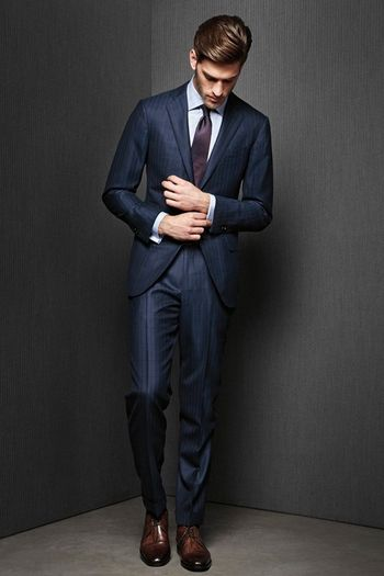 The Italian suit style is the trendiest one than two previous cut ...
