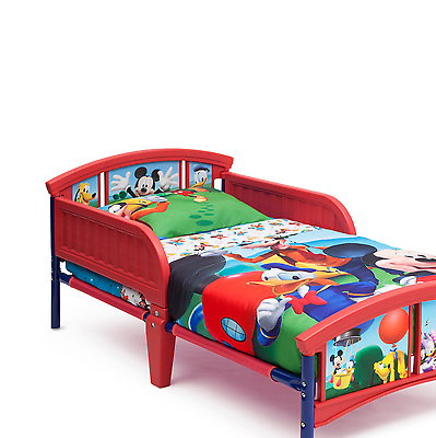 Disney Mickey Mouse Safety Toddler Baby Bed | Kids toddler ...