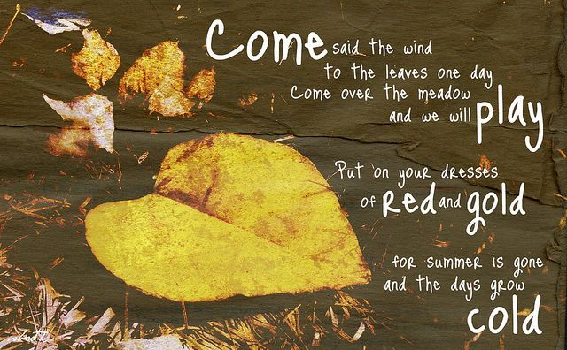 come said the wind to the leaves one day - Google Search