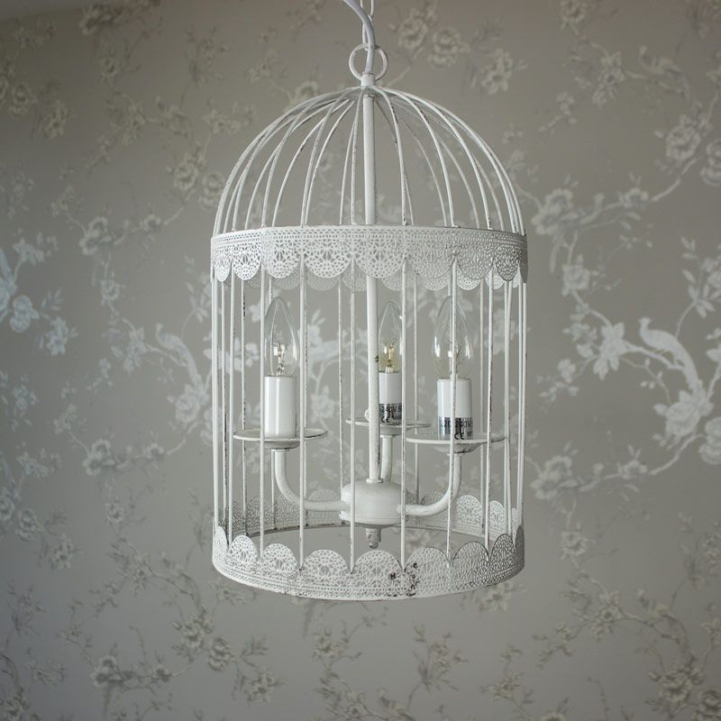 White birdcage chandelier light fixtures i love pinterest white birdcage chandelier aloadofball Gallery