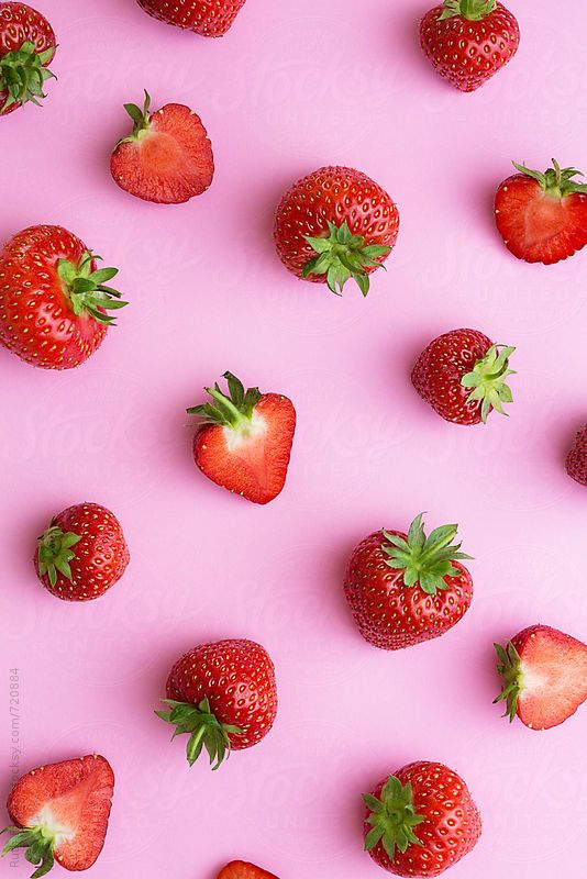 Cute Avocado Wallpapers Strawberry Background By Ruth Black For Stocksy United