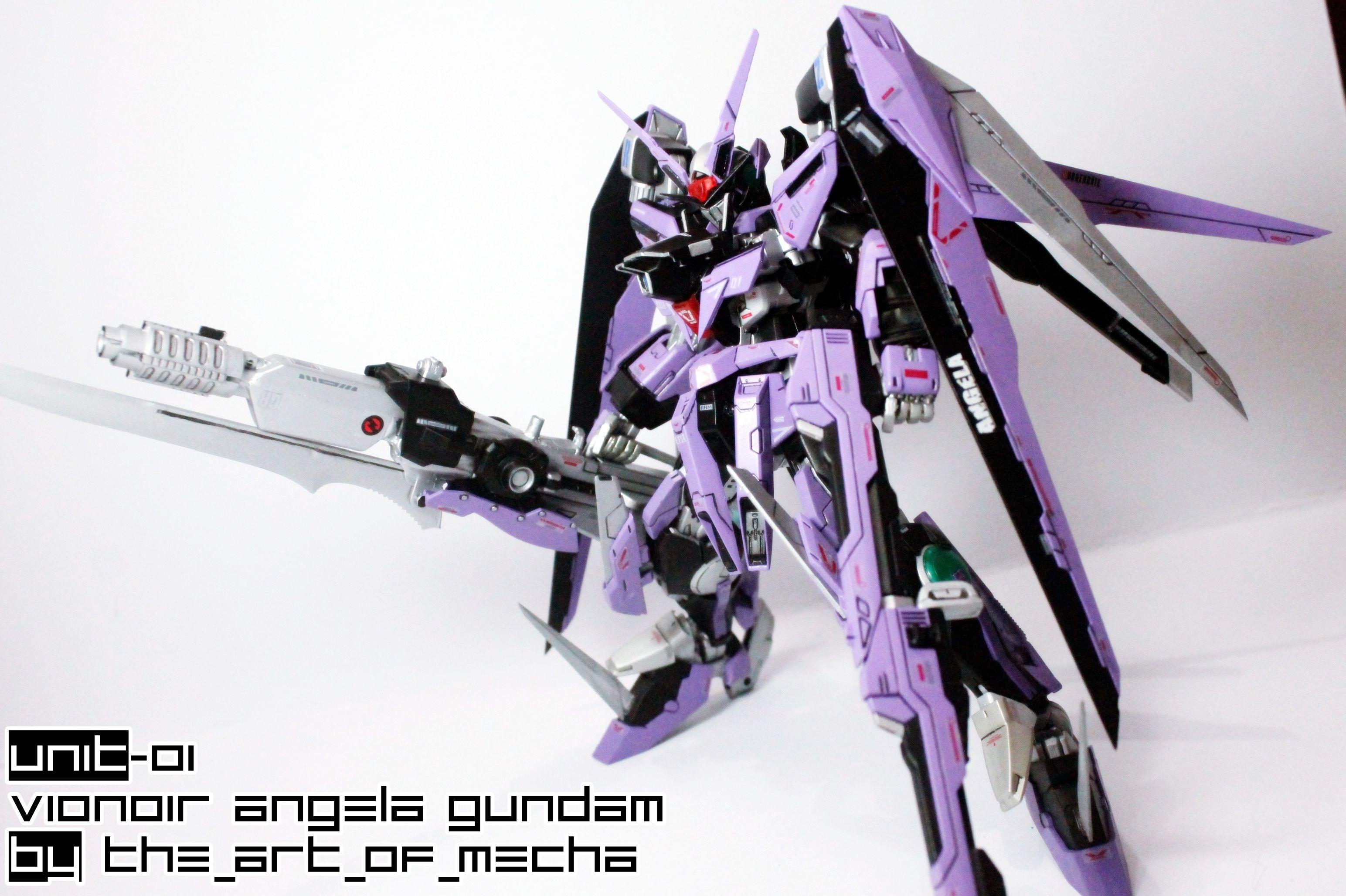 MG 00 Raiser Custom: Unit 01 Vionoir Angela Gundam. Work by Eizy. Photoreview http://www.gunjap.net/site/?p=243844
