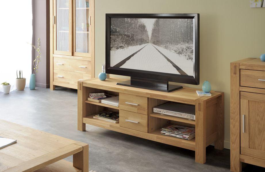 comoda tv moderna stejar natur ADAM #Mobila Mobila sufragerie - tv grau beige