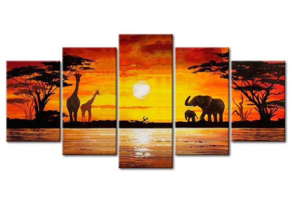 Ve cuadro safari c lido y otras decoraciones en la galer a bimago cuadros acr licos tr pticos - Bimago cuadros modernos ...