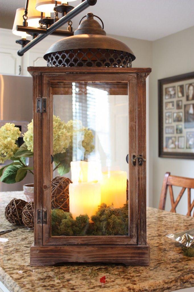 Rustic Lantern Idea And Tutorial Lanterns Decor Decor Lanterns