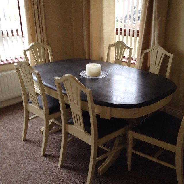 Chalk Paint Makeover Complete   Pine Dining Table And Chairs Transformed  With Annie Sloan Chalk Paint