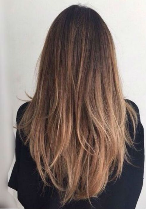 Balayage Dark Hair Straight