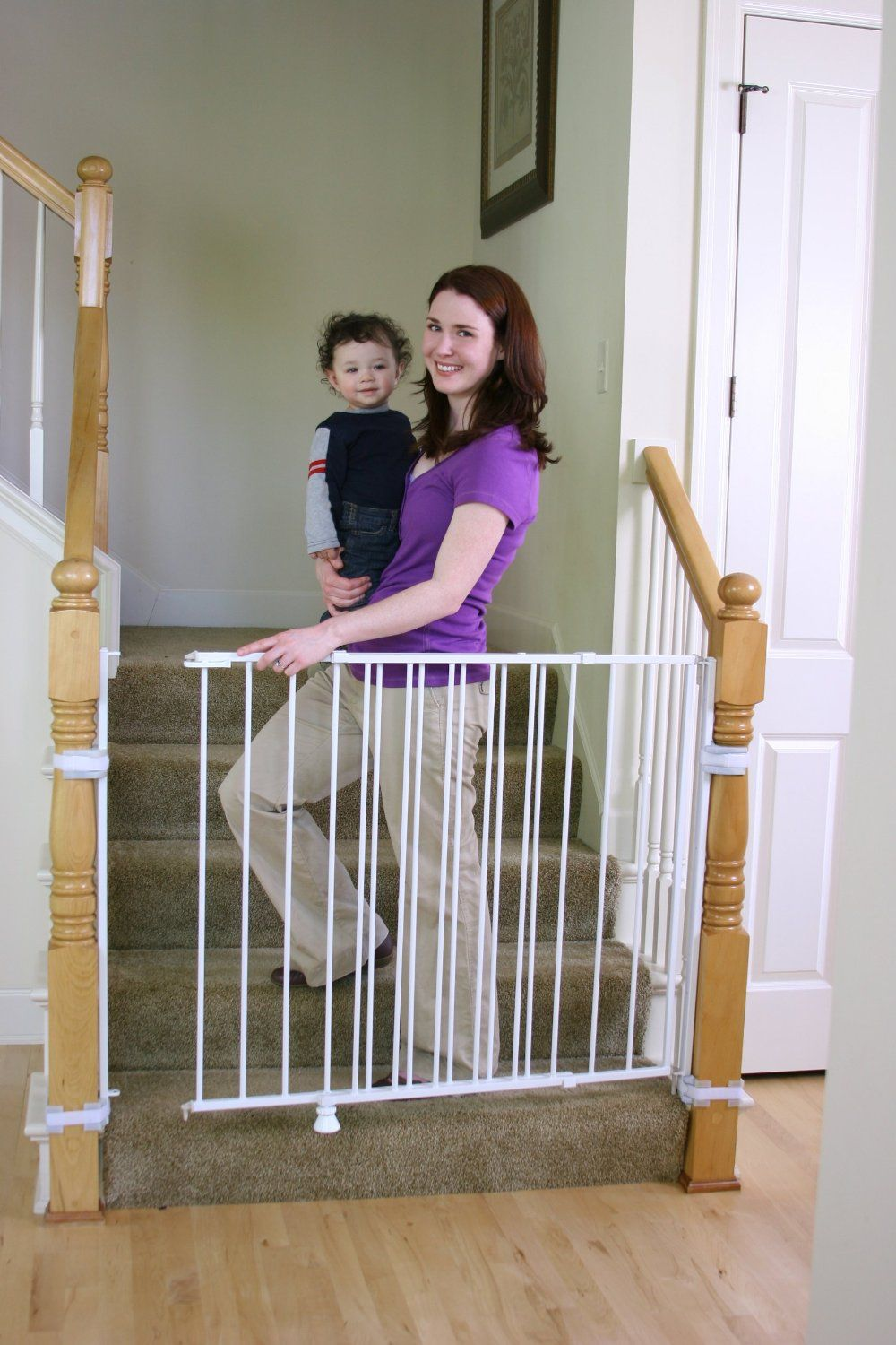 Regalo Extra Tall Top Of Stair Gate White Top Of The Stairs Baby