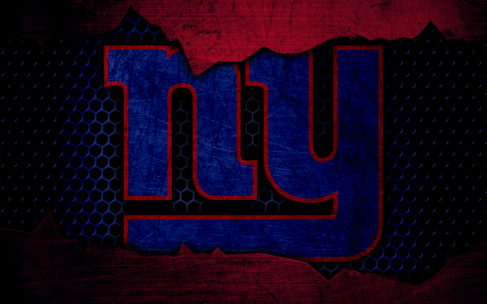 Download Wallpapers New York Giants 4k Logo Nfl American Football Nfc Usa Grunge Metal Texture East Division Besthqwallpapers Com New York Giants New York Giants Logo Nfl