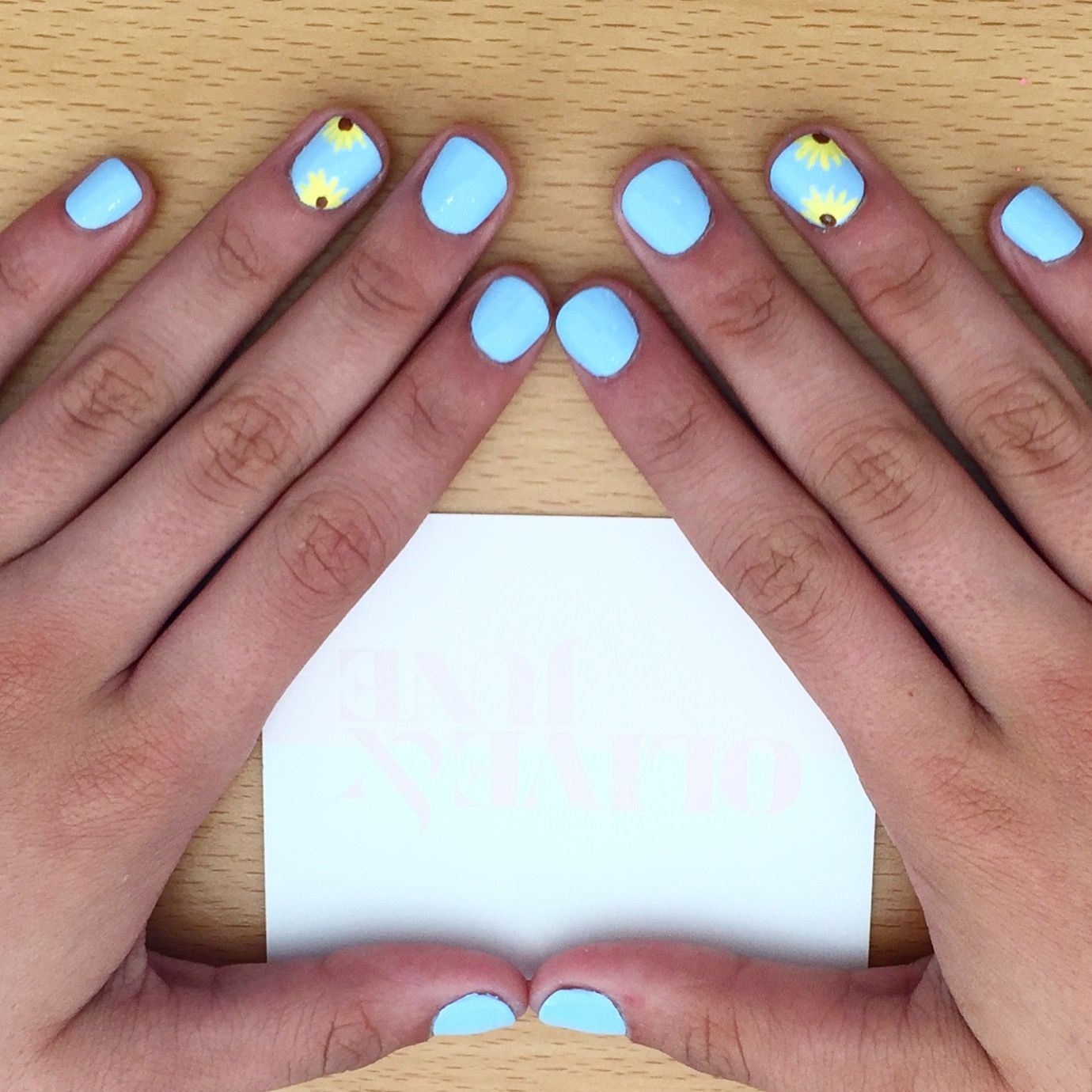 Pin By Olive June On Olive Your Mani Summer Nails Light Blue Nails Spring Nail Art