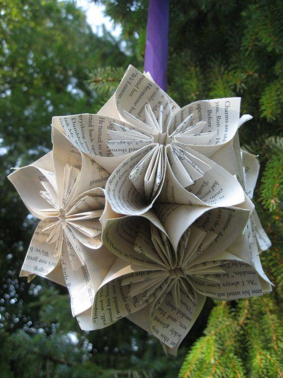 HUGE Harry Potter Book Kusudama Ball Origami by TreeTownPaper, $30.00