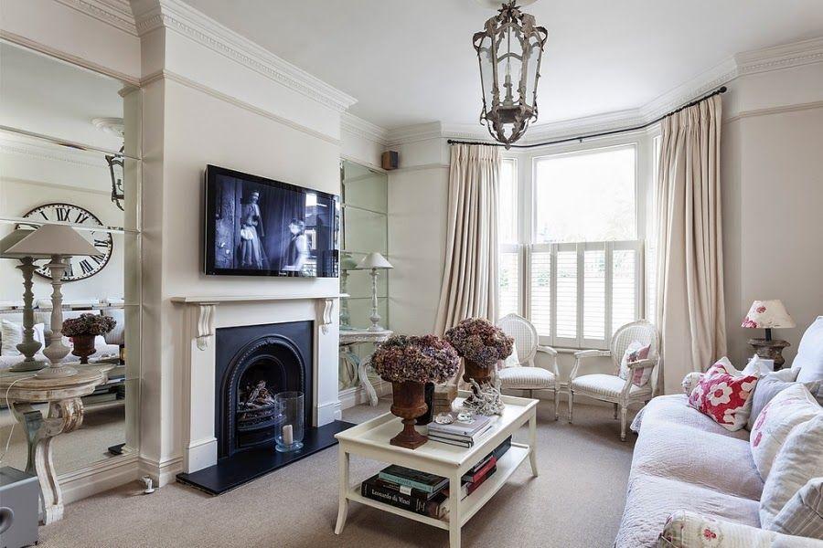 Francuska Elegancja Z Nutka Romantyzmu Victorian Homes Modern Country Style Small Living Room Decor
