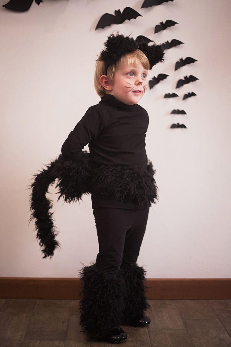 Halloween kids costumes black cat (part I)
