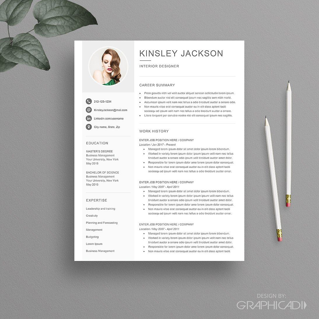 Resume Template For Word Facebook Linkedin Icons Twitter Resume