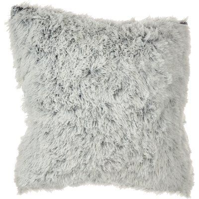 Cream Faux Fur Oversized Throw Pillow