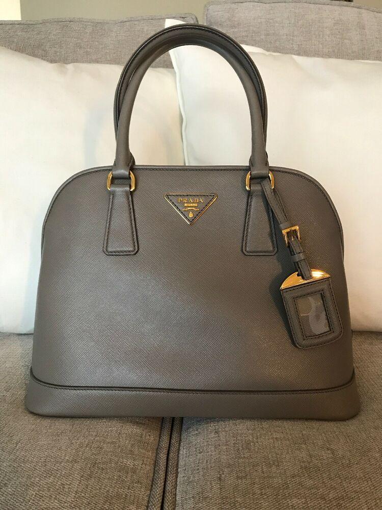 a7b36d8562e3 Prada Saffiano Lux Satchel / Shoulder Bag Argilla (Clay Color) BN2567  -$2100 | eBay