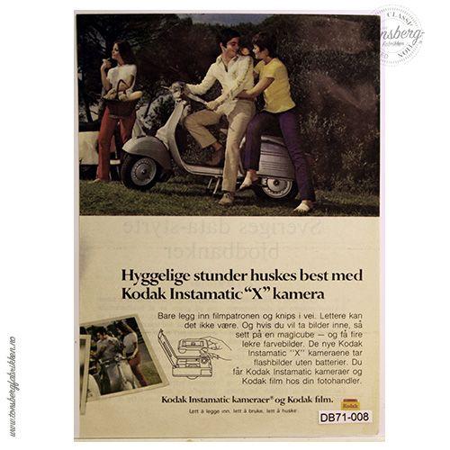 """1971 - """"Hyggelige stunder huskes best med Kodak Instamatic X kamera"""""""