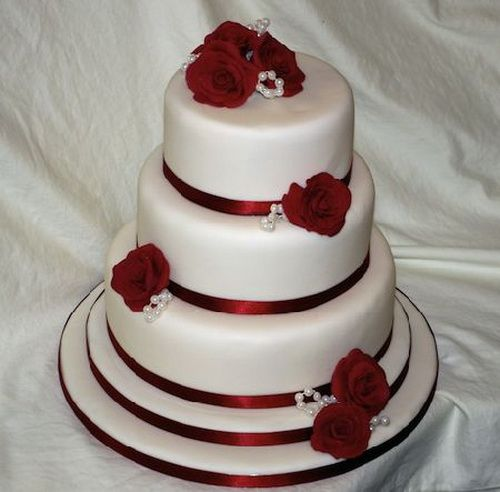 Red Rose Cheap Wedding Cakes Tips For