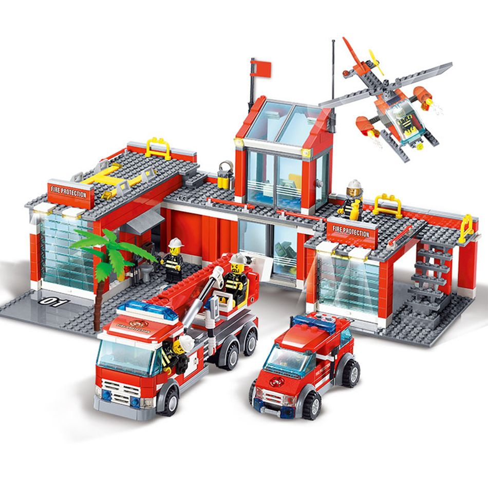 In Stock Lepin 02020 City Series The Legoing 60141 New Police Lego Station Set Educational Building Blocks