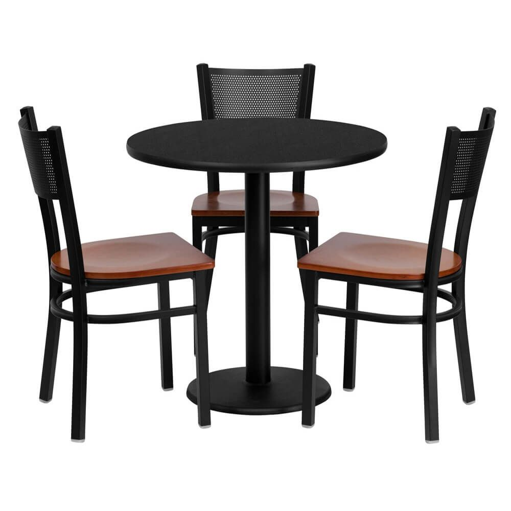 Messina 30 Inch Round Small Bistro Set Metal Chairs Table And Chair Sets Flash Furniture