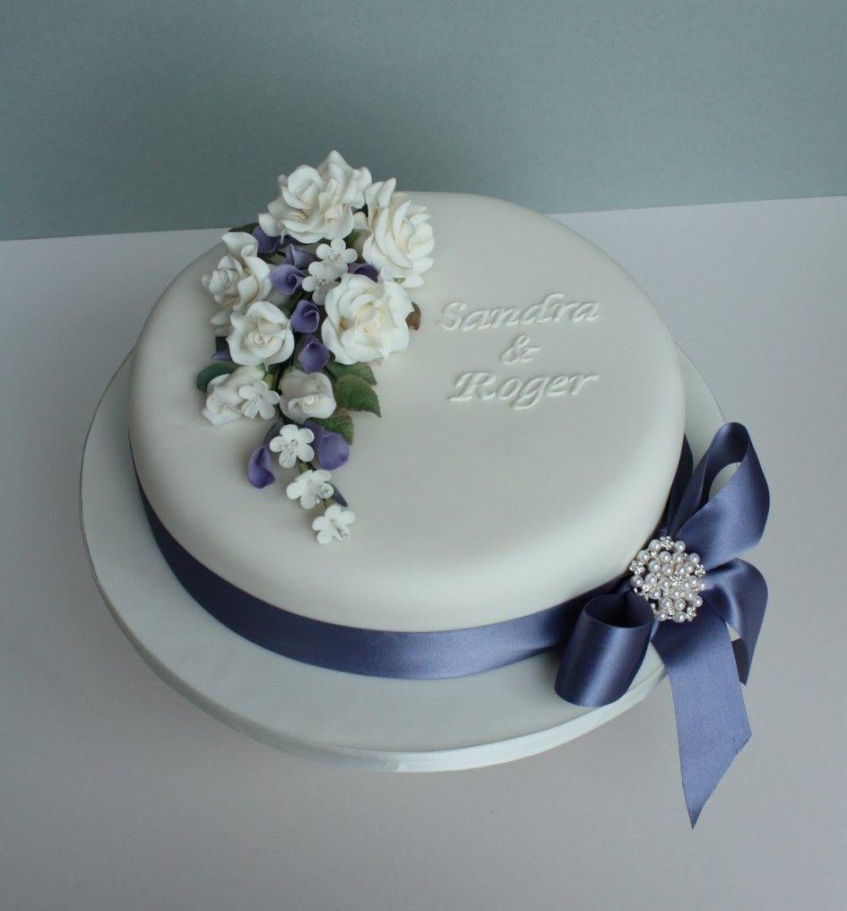 Wedding Cakes Ideas Elegant White Single Tier Cake Decorations Combined
