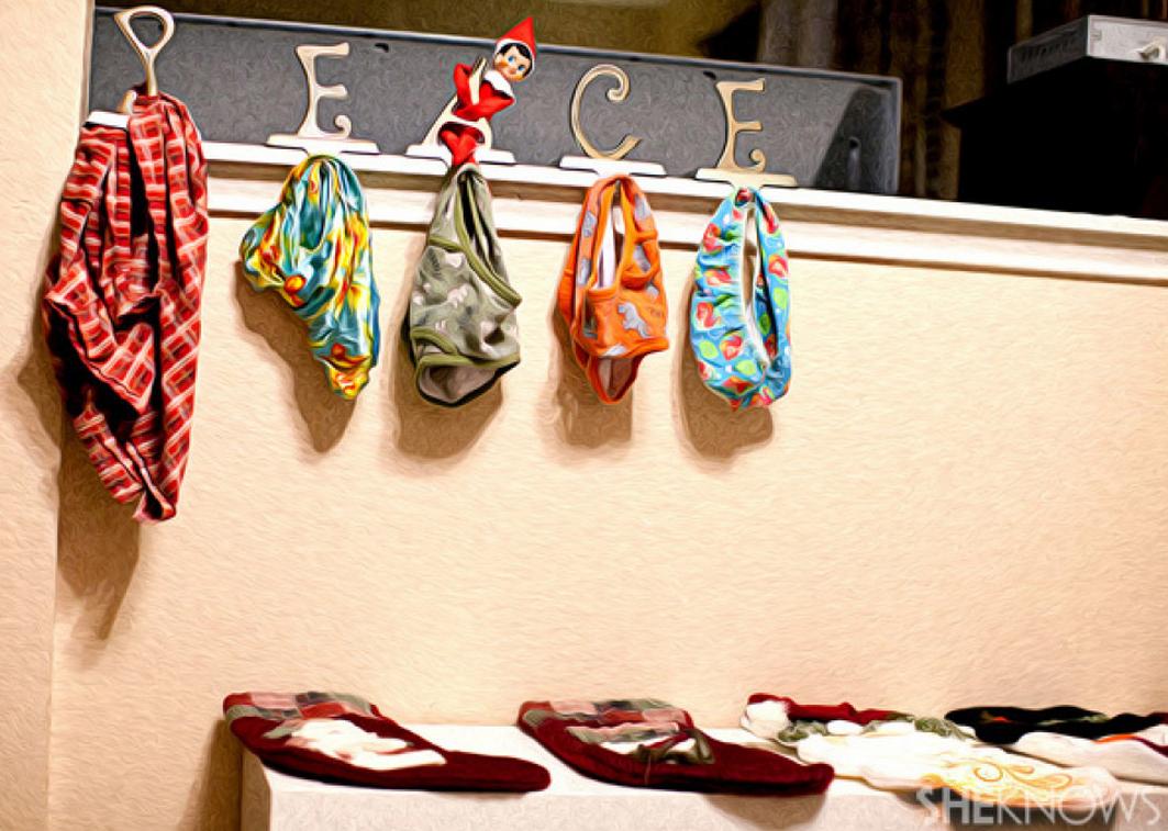 Stocking Switcheroo- 30 Easy Elf On The Shelf Ideas | Holiday ...