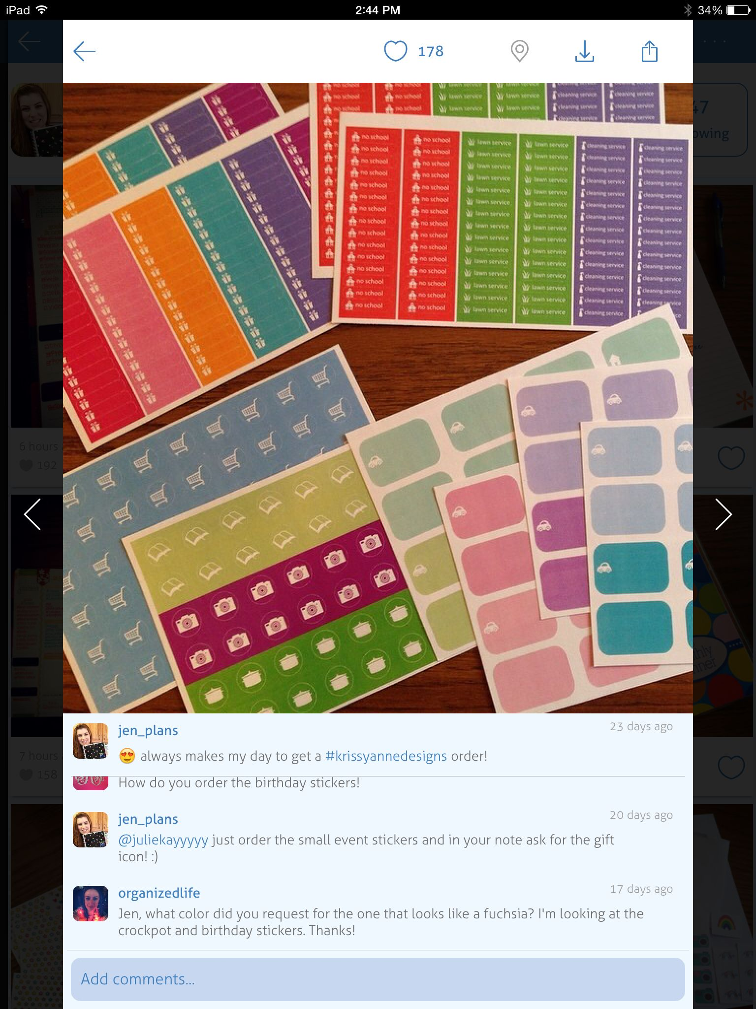 Love her planner style! And need these stickers!