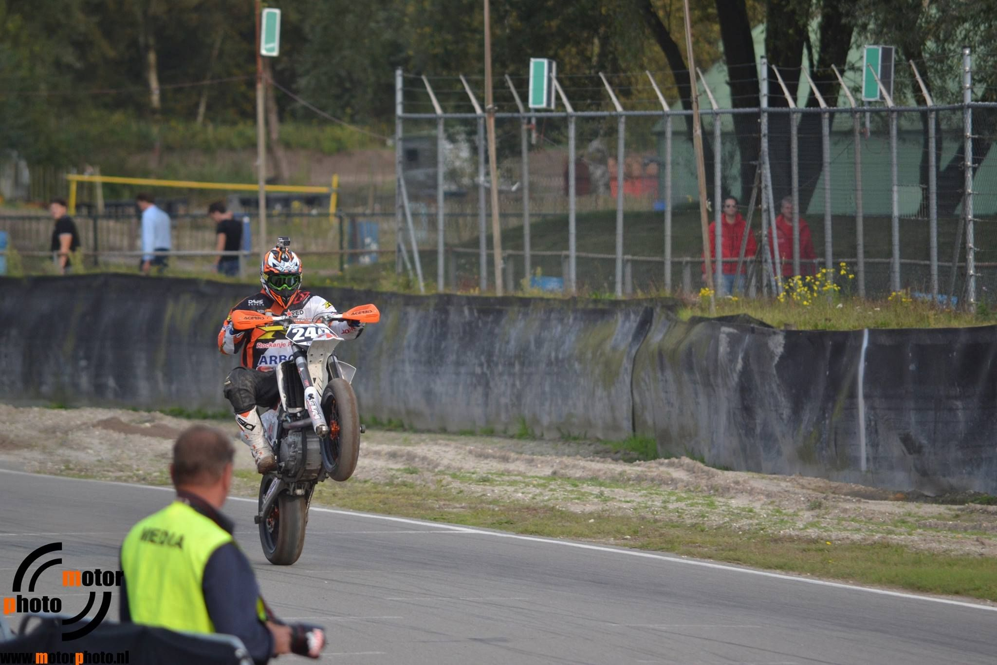 Victory Wheely! Supermoto Style!