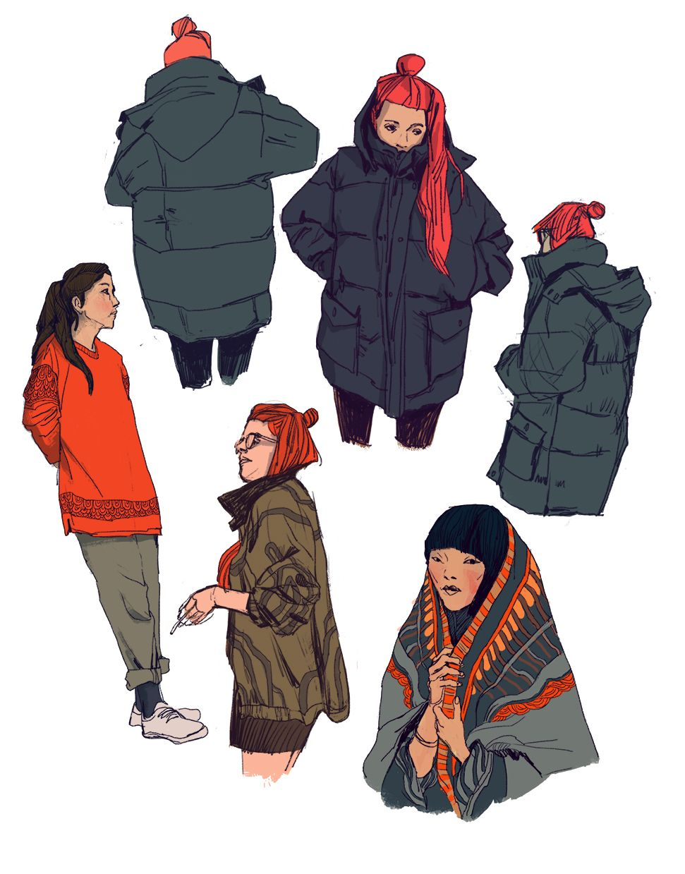 I recognozied that I haven't post any sketches/studies for a looong time. These are from April 16