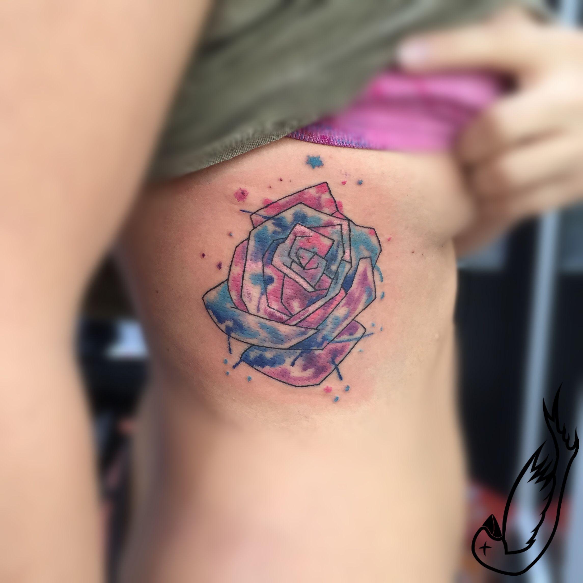 Watercolor tattoo artists in houston texas - Rose Tattoo Blue Watercolor Watercolour Falling Bird Studio Falling Bird Tattoo Pinterest Rose Tattoos Tattoo And Tattoo Studio