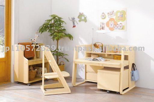 Estudio de madera escritorio de la serie pierna paquete de for Muebles de madera para ninos