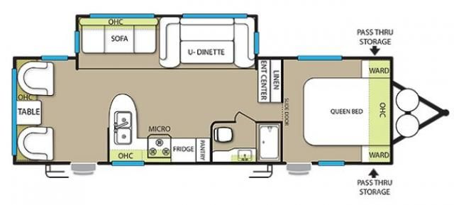 Floorplan Evo 2360 Travel Trailers For Sale Rv Manufacturers