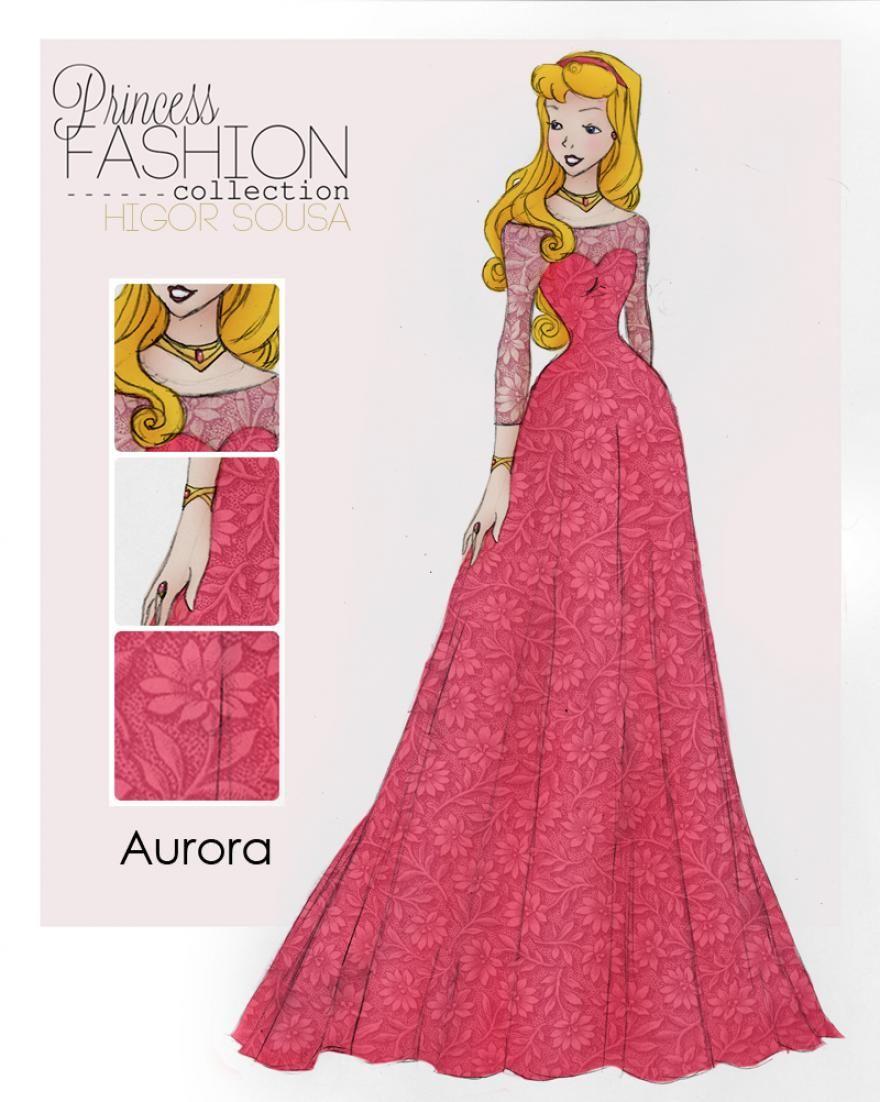 Princess Fashion by Higor Sousa (6 pics) | Disney | Pinterest