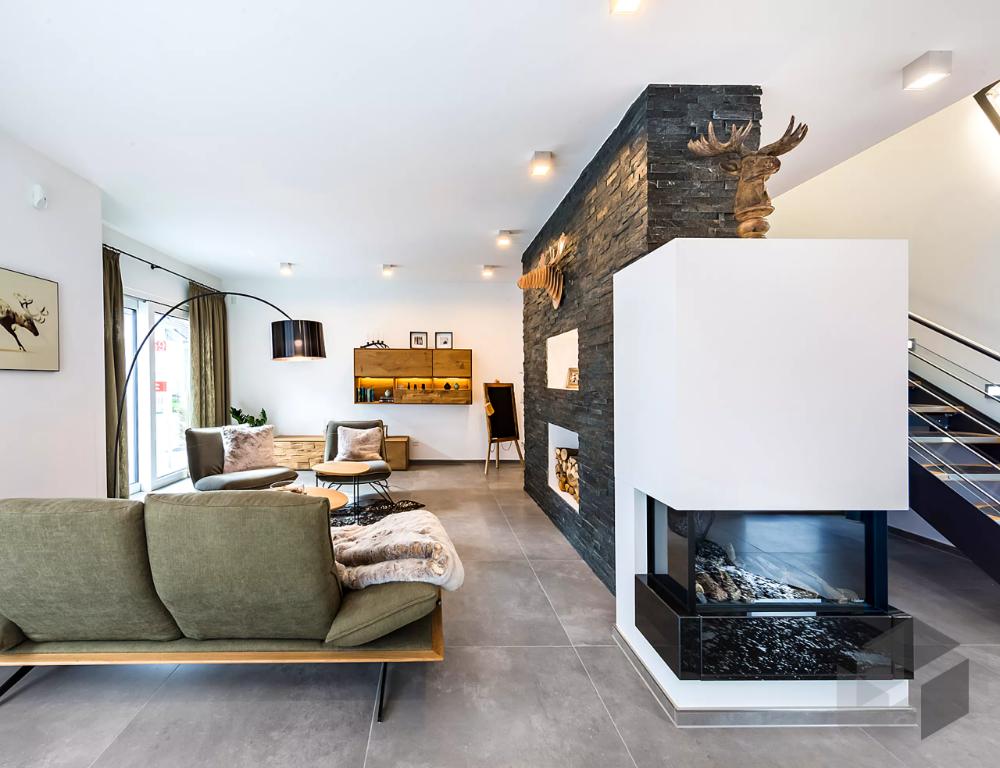 Wohnzimmer Einrichtung aus dem 'Musterhaus Fellbach' von