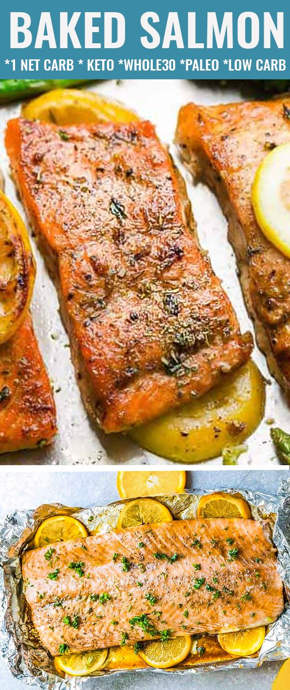 OVEN BAKED SALMON images