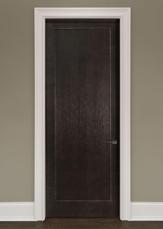 Modern rift cut oak solid wood front entry door single gdim modern interior custom door single solid core modern interior rift cut oak wood veneer door in single panel design with applied moulding that is pre hung planetlyrics Images
