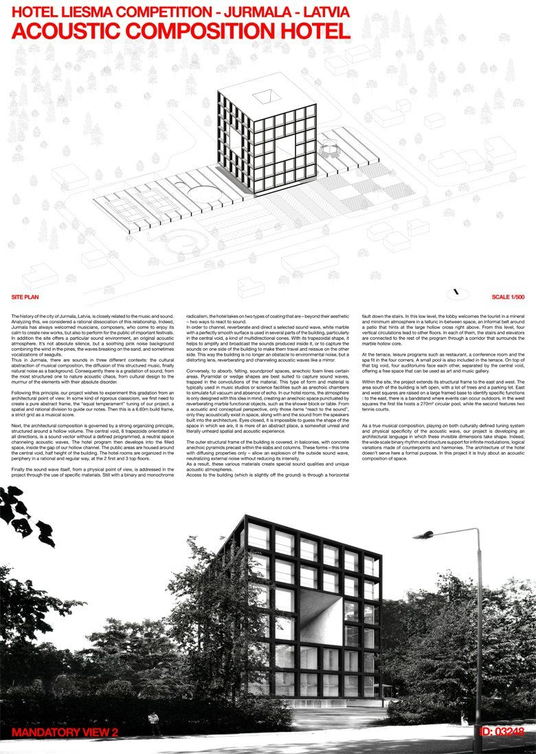 Hotel Liesma Proposal By Praud Architecture Presentation Architecture Graphics Design Competitions