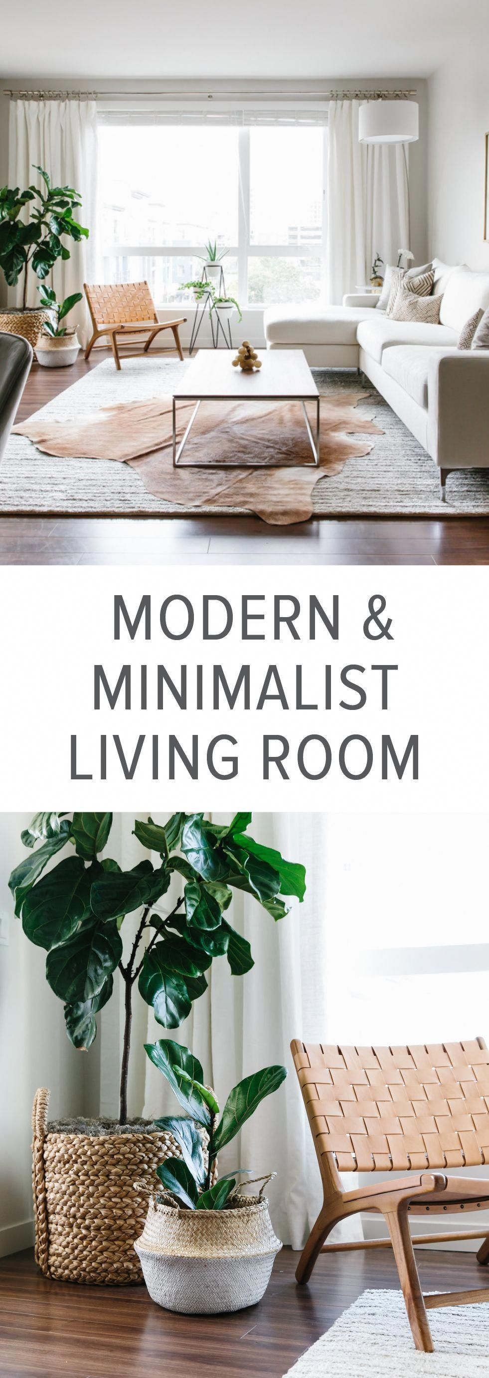 Designing my Modern and Minimalist Living Room with Havenly #minimalisthomedecor